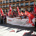 Concentración en defensa de los trabajadores de la AGE