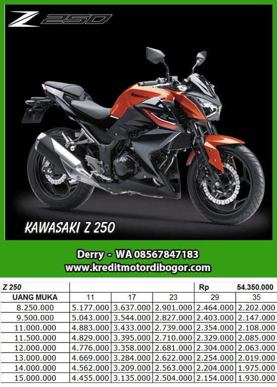 Daftar Harga Kredit Motor Kawasaki Z 250 di Bogor