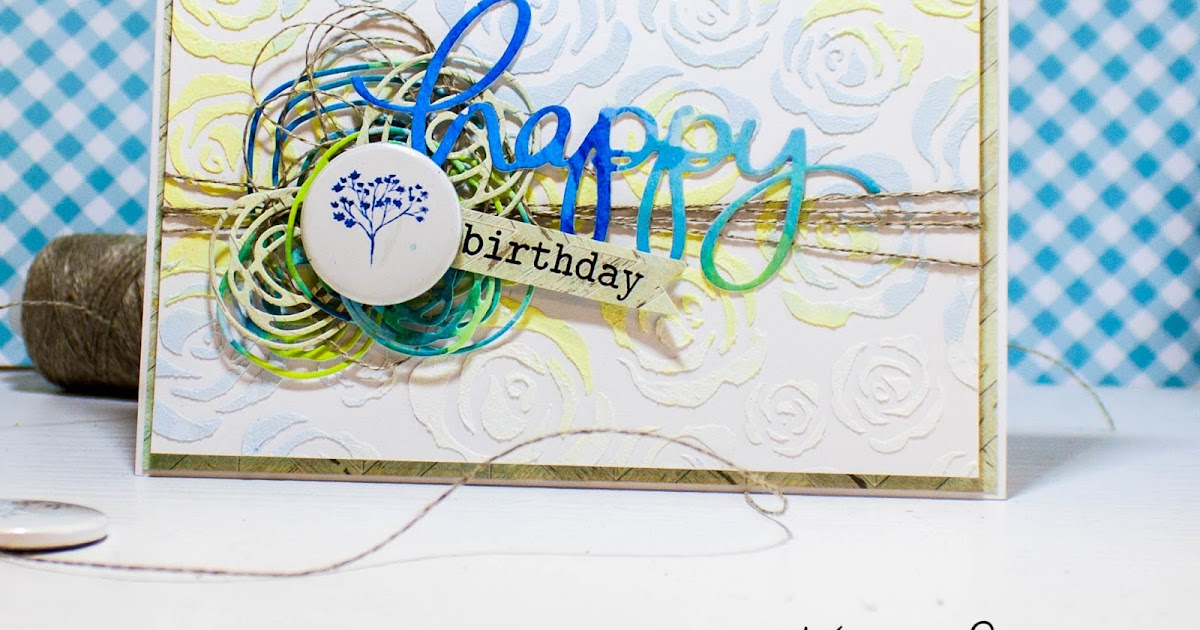 CARD Happy Birthday ... - Homy Workshop by Ksenia Phedra Li