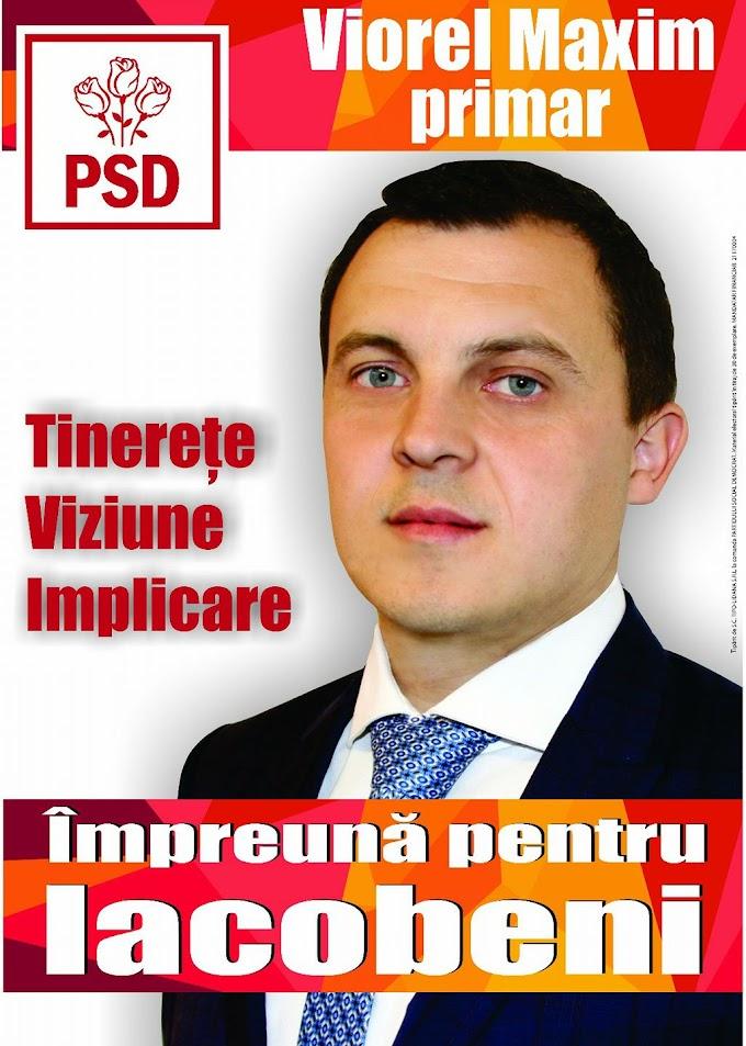 Viorel Maxim, candidatul care își propune să dea o nouă față comunei Iacobeni