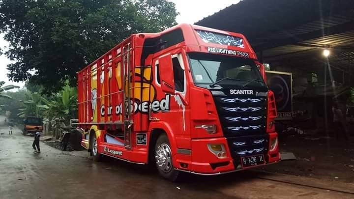 SCANTER Modifikasi Truk Canter Menjadi Scania di Karoseri Load Bak