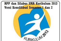 RPP dan Silabus SMA Kurikulum 2013 Versi Kemdikbud Semester 1 dan 2