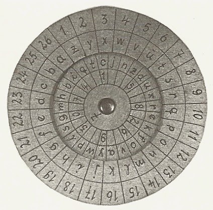 Cipher disc for Werner Walti (real name Robert Petter), one of the spies who landed off the coast of Scotland in late September, 1940.