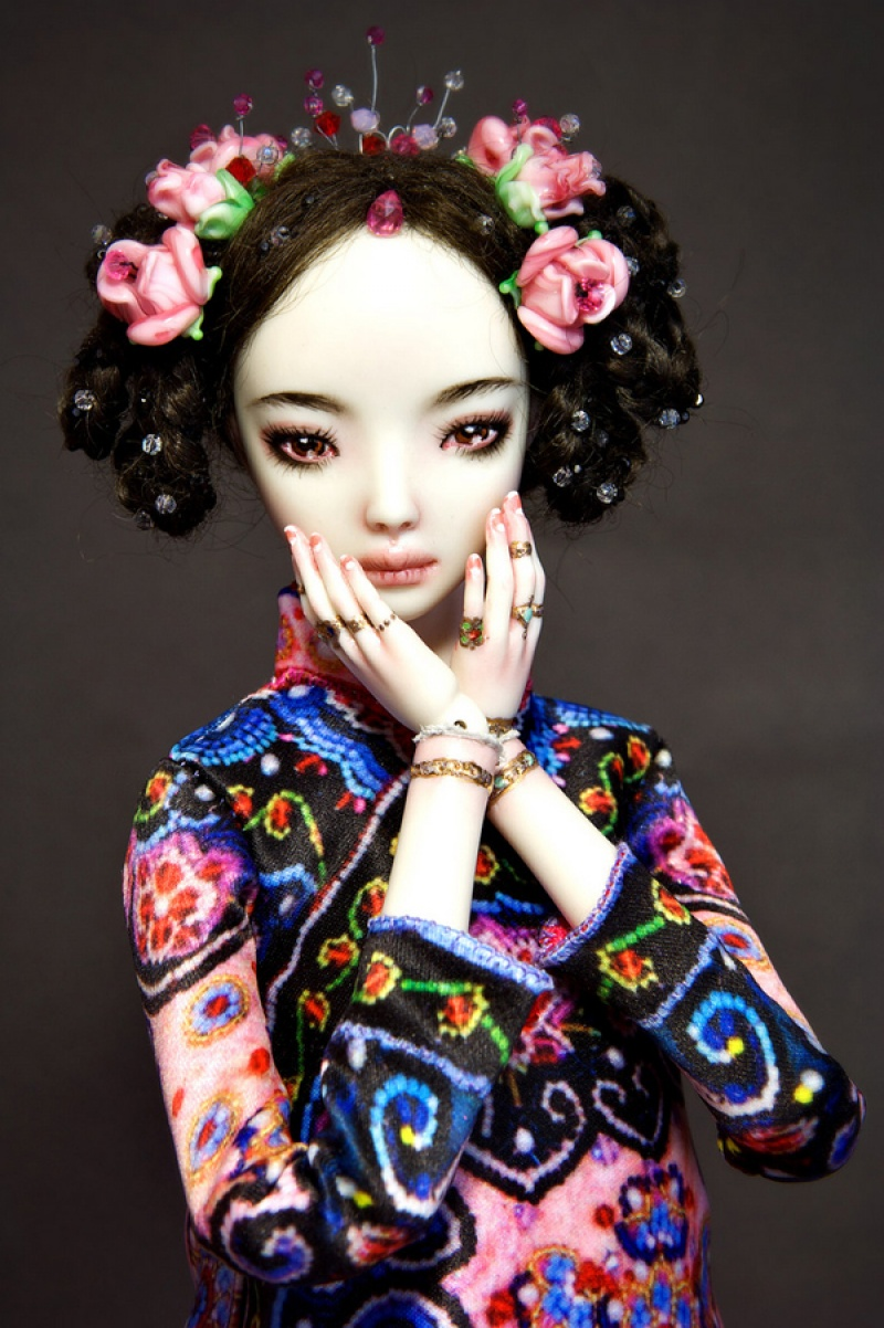 the designer creates inspired dolls for adults