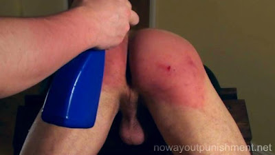 Ben takes a very hard spanking in a gay spanking video made by No Way Out Punishment