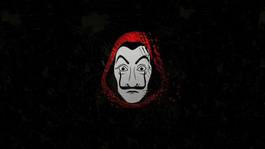 Money Heist, Dali Mask, Minimalist, 4K, #6.1116
