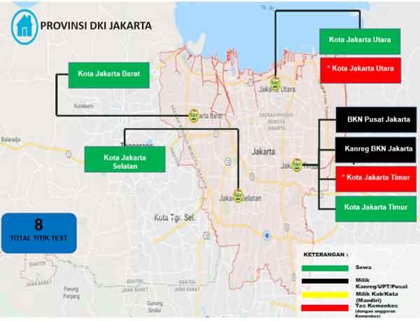 Lokasi Tes Cat BKN Propinsi DKI Jakarta