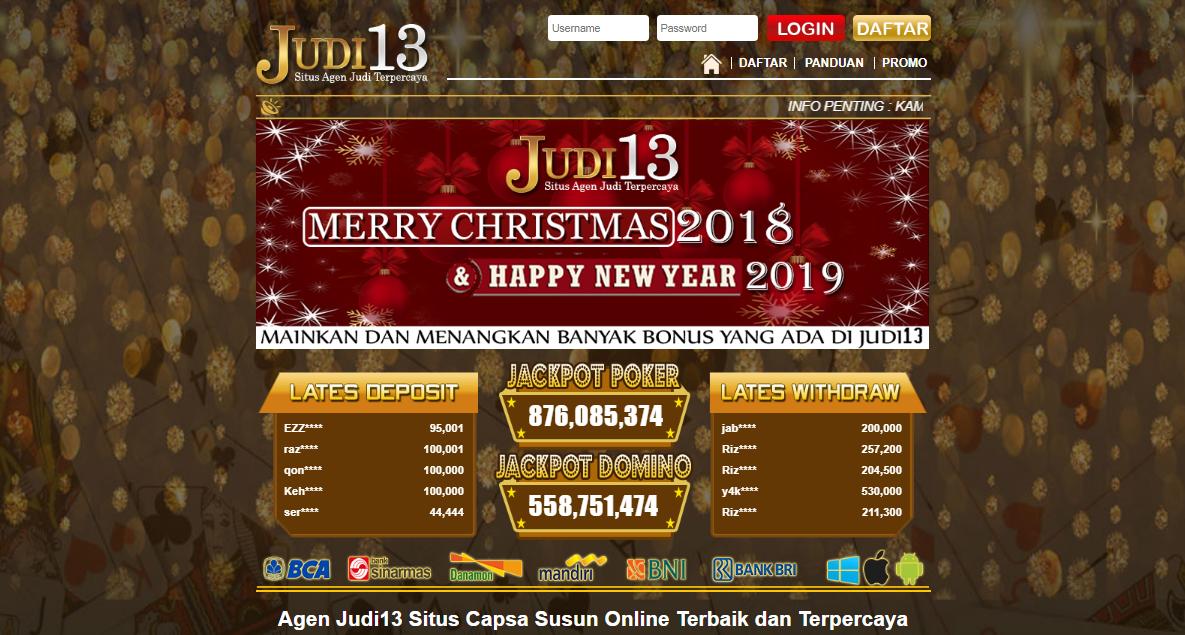 Judi13 Situs Judi Capsa Online Terpercaya