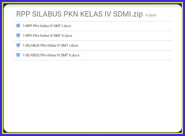 Download RPP dan Silabus PKN SD MI Kelas 4 5 6 KTSP