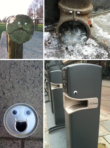 Ojos para muñecos y arte urbano