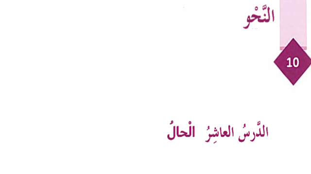شرح درس الحال لمادة اللغة ىالعربية للصف الثامن