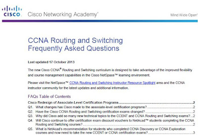 CCNA Routing and Switching Frequently Asked Questions