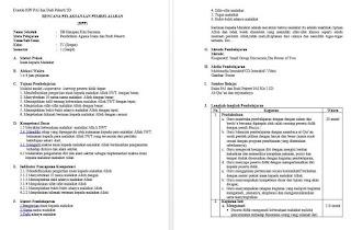 RPP PAI Kelas 1 & 4 SD Format K13 (Kurikulum 2013)