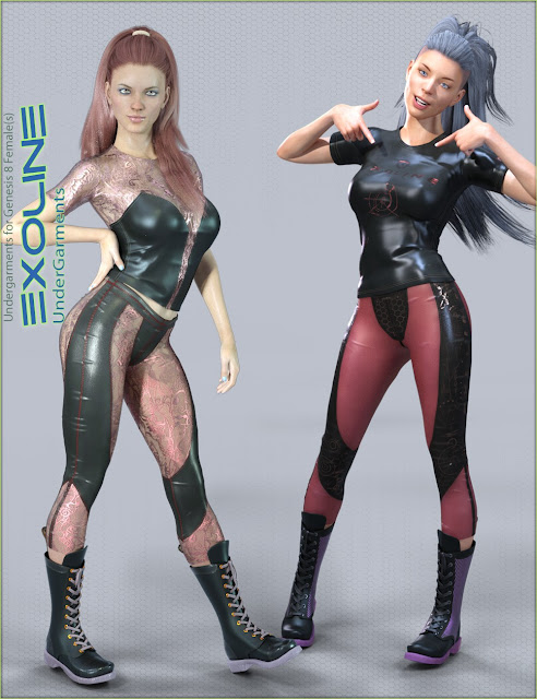 Exoline Undergarments for Genesis 8 Female