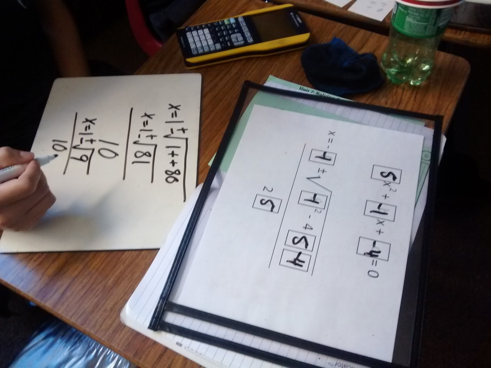 Math Love Quadratic Formula Templates