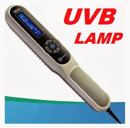UV-B Phototherapy Lamp for Psoriasis - Vitiligo - Eczema ...