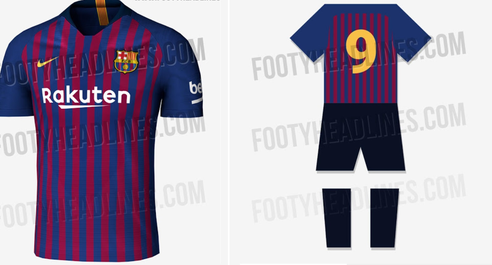 63a82da35 New Barcelona Home   Away Kit 2018-19 Leaked