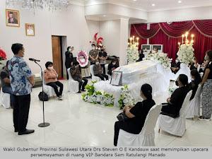 Jemput Jenazah Wabup Helmud, Wagub Kandouw: Embo Sosok Yang Patut Jadi Suriteladan
