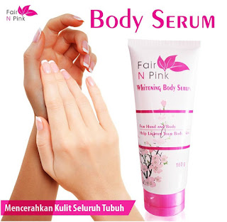 Fair n Pink Whitening Body Serum 160 g Lotion Pemutih