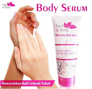 Fair n Pink Whitening Body Serum 160 g Lotion Pemutih