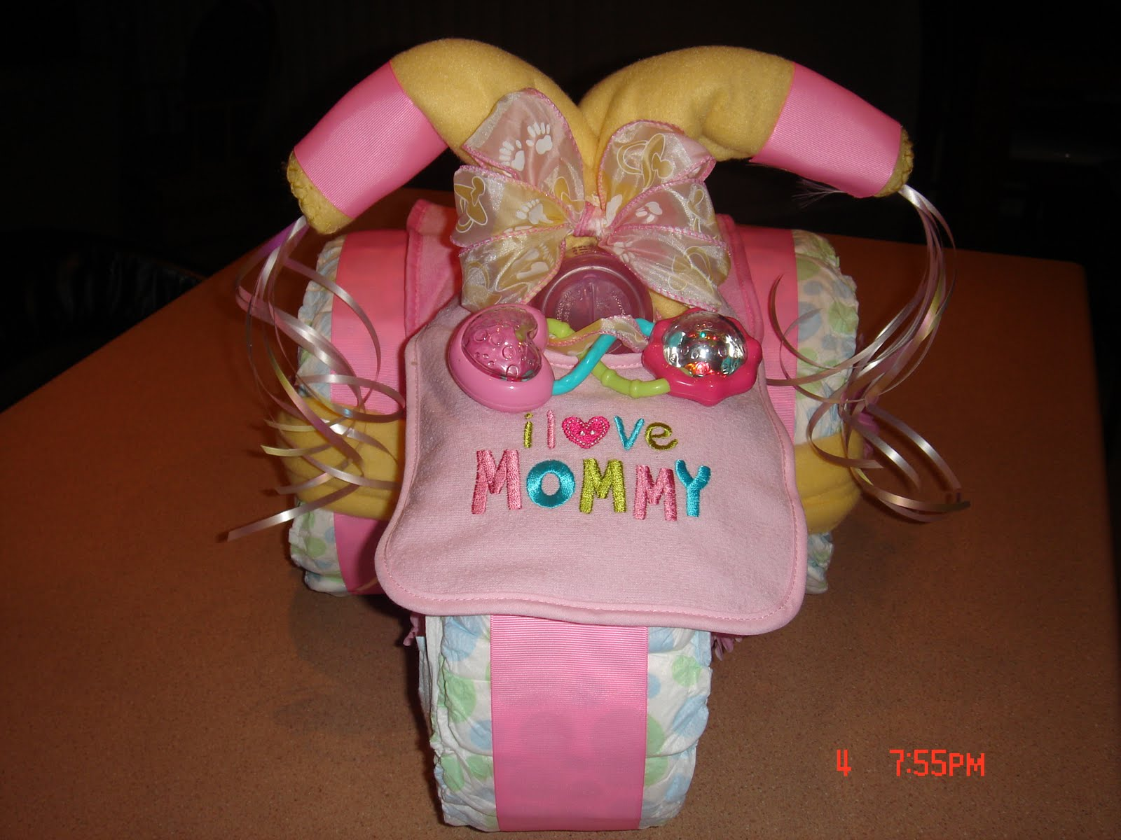 Tow Family Tricycle Diaper Cake