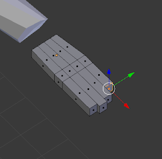 Extruding one by one.