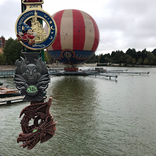 Disneyland Paris Magic Run 2018 Médailles semi, 31K, 36K