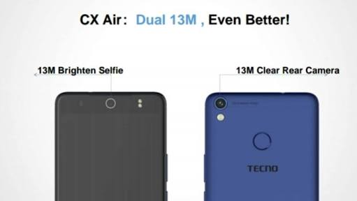 Camon cx air 13mp both front and back camera