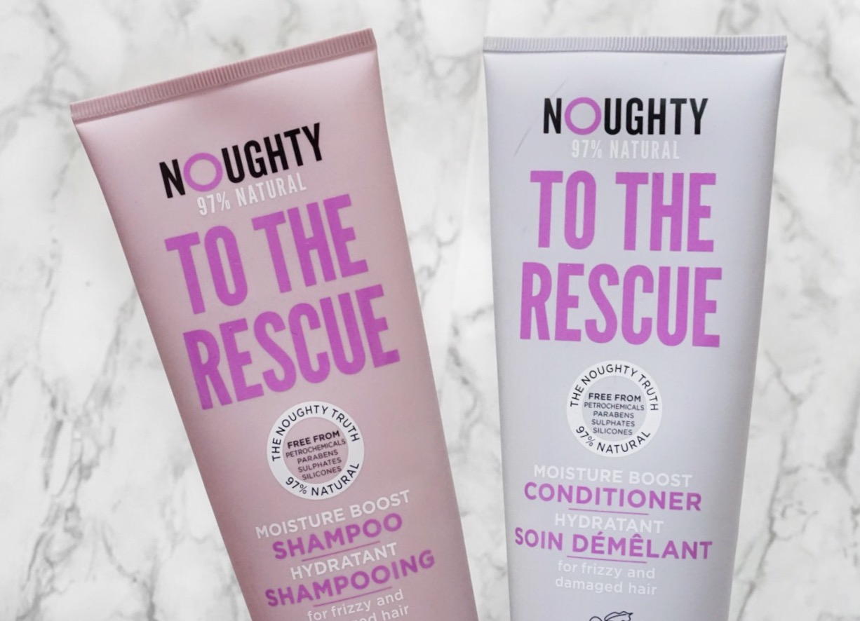 Noughty Hair To The Rescue Shampoo and Conditioner for Frizzy, dry and Damaged Hair.
