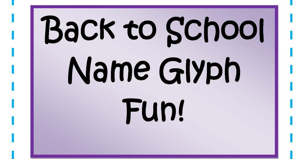 Little Miss Middle School Back To School Activities Name