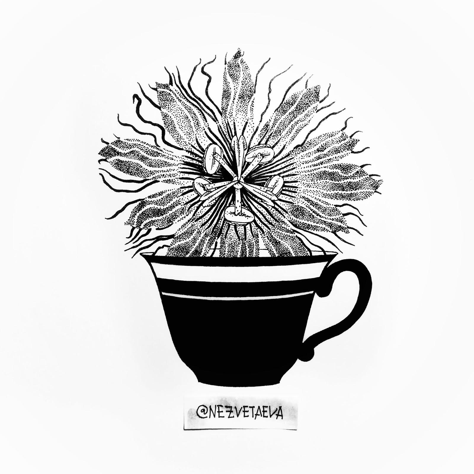 sonia-nezvetaeva-inktober2018-passiflora-dotwork-sketch
