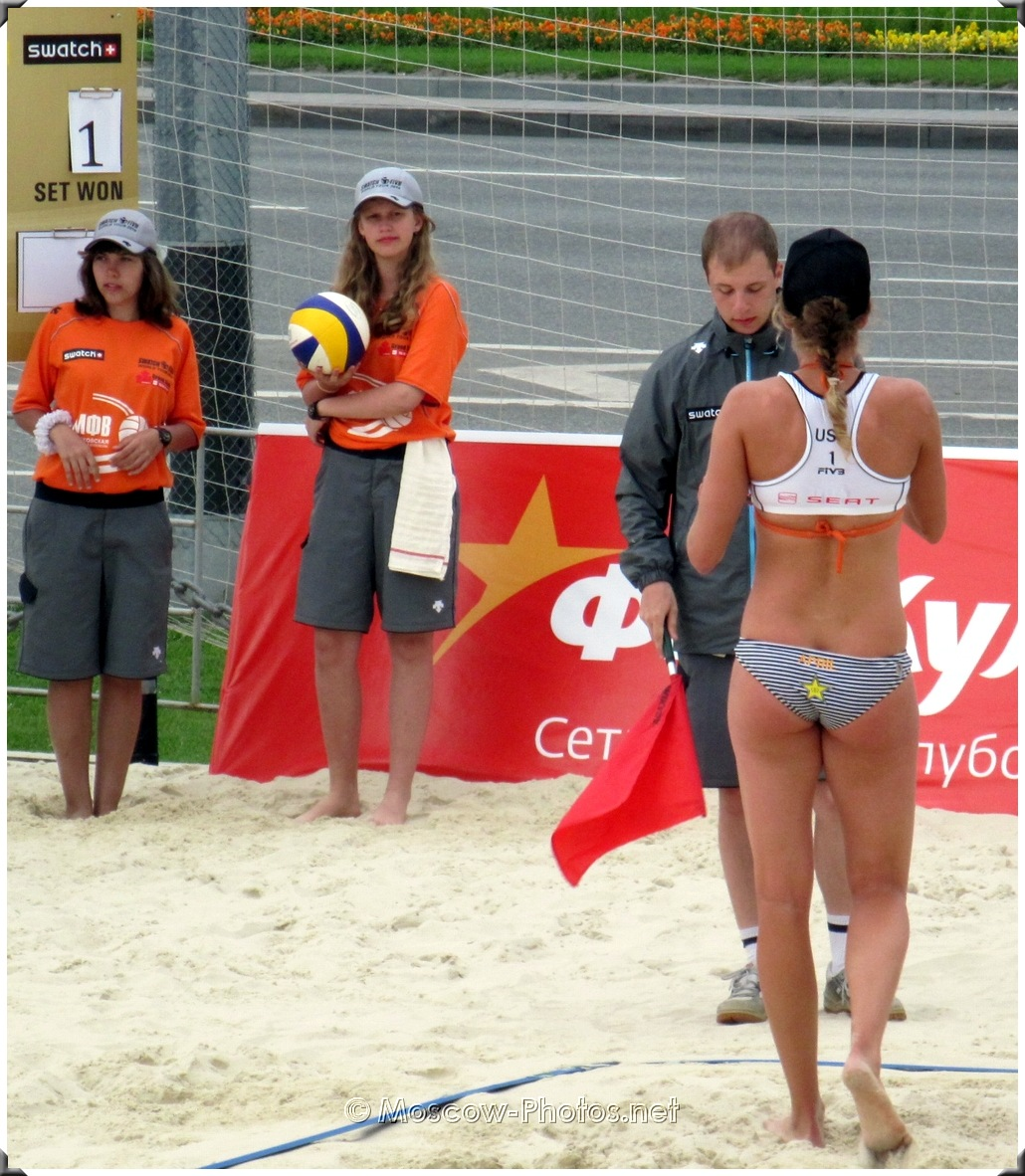 April Ross at Volleyball World Tour In Moscow