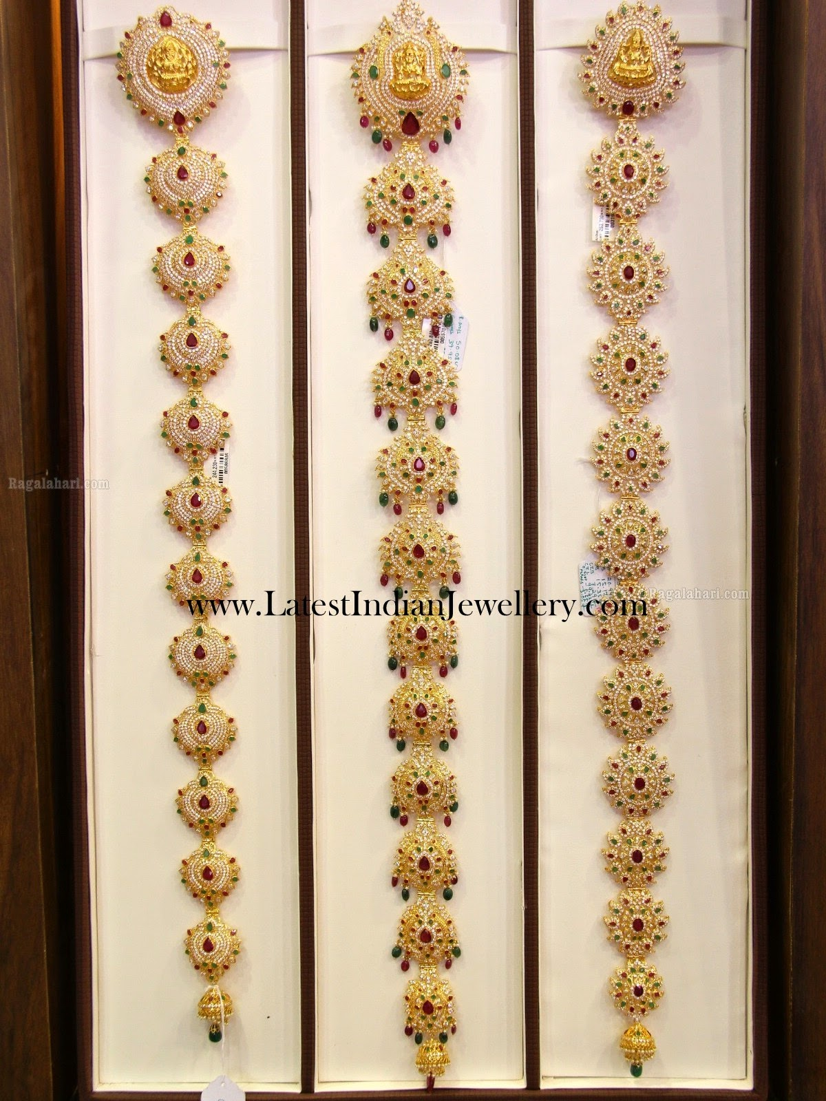 Indian Gold Jada Designs With Czs Latest Indian