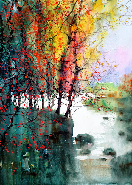 Z L Feng Watercolor Paintings by Artist
