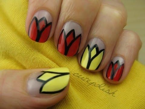 Tulip Nail Designs Nailic