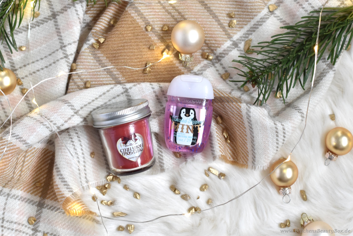 Bloggin' around the Christmas Tree - Türchen 20 - Bath and Body Works Cinnamon Frosting und Twisted Peppermint PocketBac