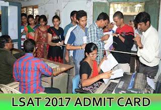 LSAT 2017 Admit Card, LSAT Admit Card 2017, LSAT India