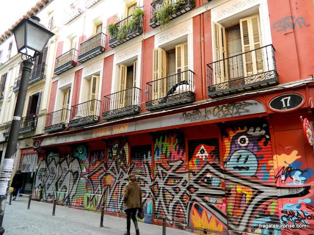 Grafite no bairro de Malasaña, Madri
