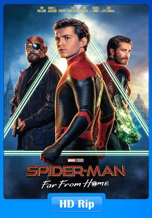 Spider Man Far from Home 2019 720p HC HDRip HQ Line Hindi Telugu Tamil Eng | 480p 300MB | 100MB HEVC