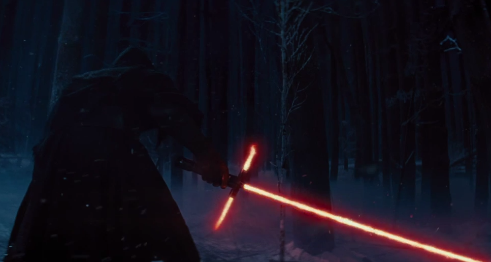 The Mysterious dark side character ignites stage two of his lightsaber