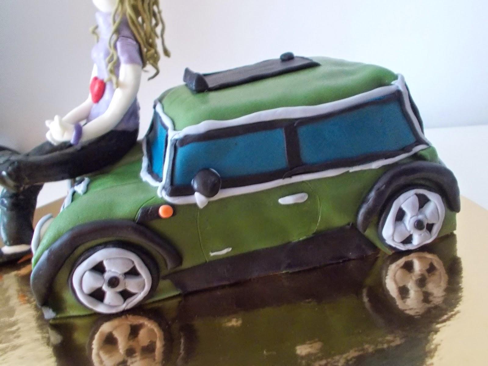 Tarta coche mini