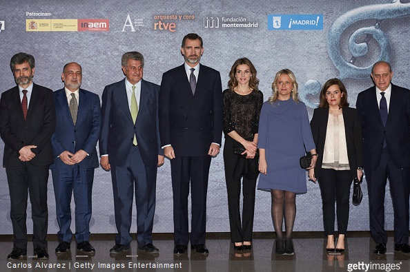 Spanish Royals attended tribute the concert for terrorism victims at the National Auditorium