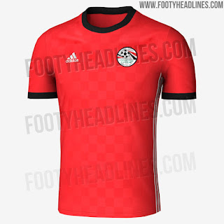 Egyptian team shirt in the 2018 World Cup Russia
