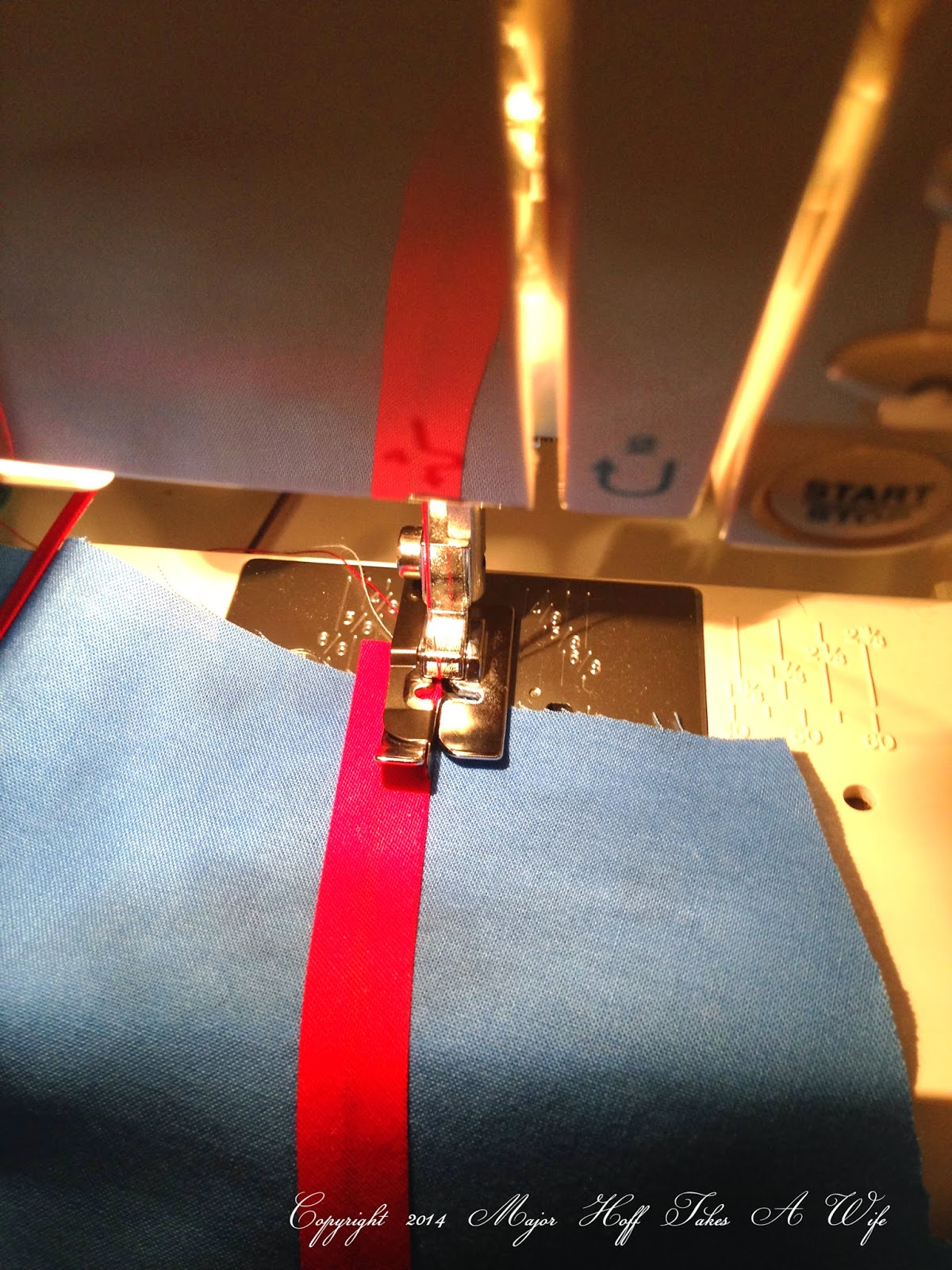 Sewing bias tape with edge foot