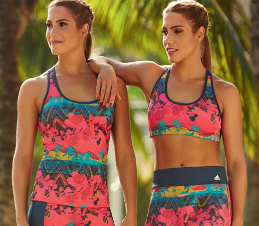 Adidas e Salinas coleção esportiva regata top calça legging