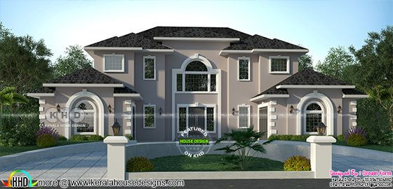 5 bedroom 3322 sq.ft  American style modern home design