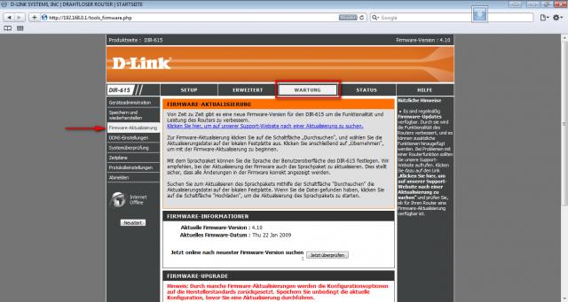 Dlink DIR-615: D-Link DIR-615 DD-WRT Firmware Flashing