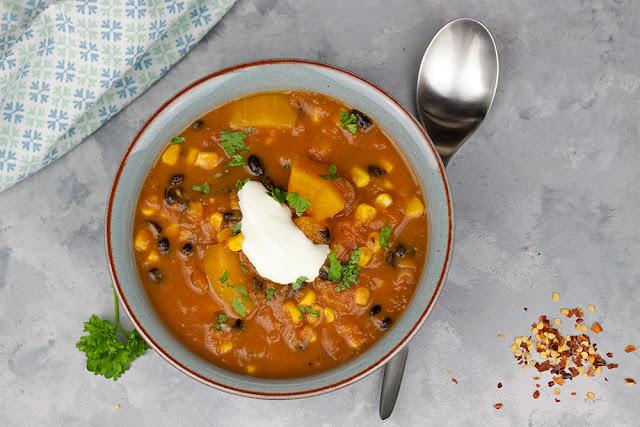 zupa dyniowa z kukurydzą