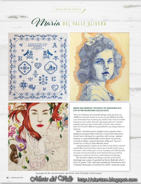 Inspirations Magazine Article abaout Maria-del-Valle's works - February 2018 - page 26