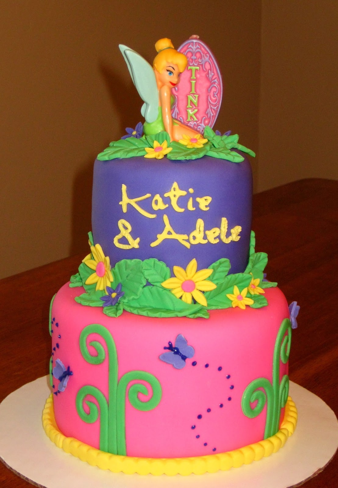 Custom Cakes By Stef Tinkerbell 2 Tier Cake